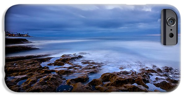 Beach Landscape iPhone Cases - Smooth Blue iPhone Case by Peter Tellone