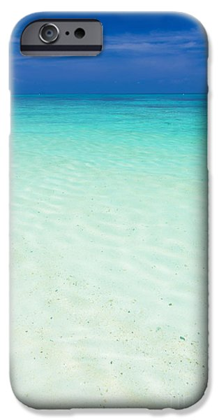 Abstract Seascape iPhone Cases - Smooth clear sea iPhone Case by Atiketta Sangasaeng