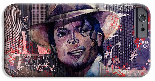 Jackson 5 iPhone Cases - Smooth Criminal iPhone Case by MB Art factory