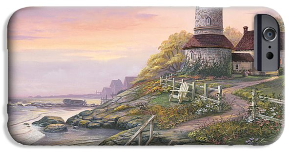 Lighthouse iPhone Cases - Smooth Sailing iPhone Case by Michael Humphries