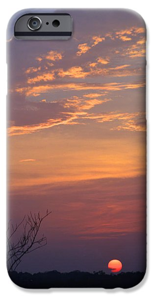 Smooth Sunset iPhone Case by Leticia Latocki