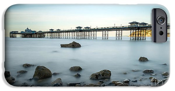 Pier Digital Art iPhone Cases - Smooth Waters iPhone Case by Adrian Evans