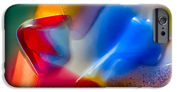 Nature Abstracts Glass iPhone Cases - Smurfette iPhone Case by Omaste Witkowski