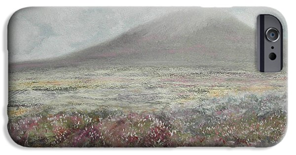 Fog Mist Pastels iPhone Cases - Snaefell Heather iPhone Case by Stanza Widen