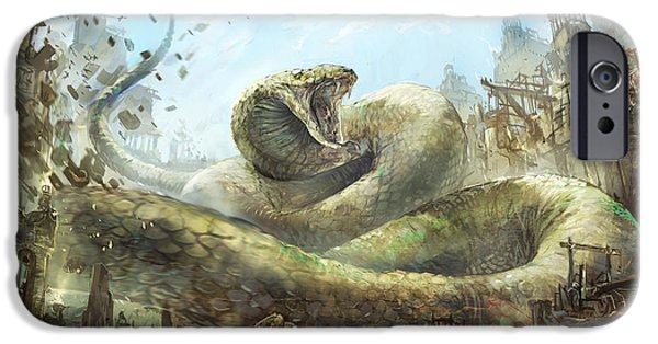 Serpent iPhone Cases - Snake Charmer iPhone Case by Jeff Brown