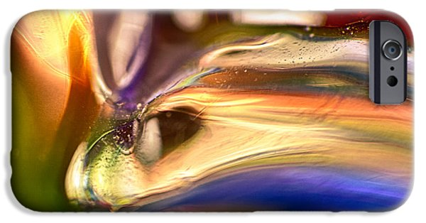 Nature Abstracts Glass iPhone Cases - Snake Eyes iPhone Case by Omaste Witkowski