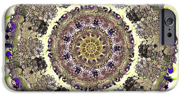 Mandalas iPhone Cases - Snake Mandala iPhone Case by Anastasiya Malakhova