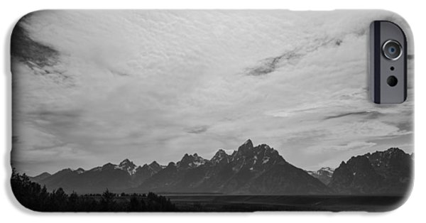 Overcast Day iPhone Cases - Snake River Overlook in Grand Teton National park iPhone Case by Vishwanath Bhat