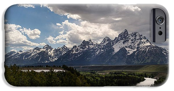 River View iPhone Cases - Snake River Overlook Panorama iPhone Case by Aaron Spong
