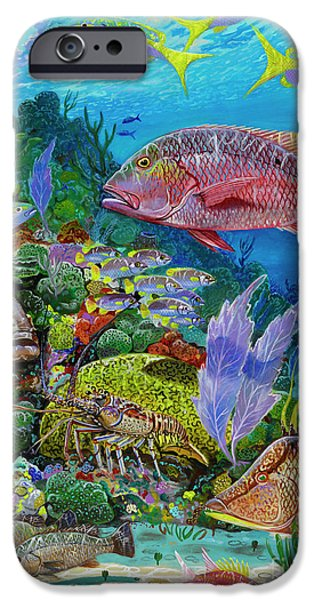 Atlantis iPhone Cases - Snapper Reef Re0028 iPhone Case by Carey Chen