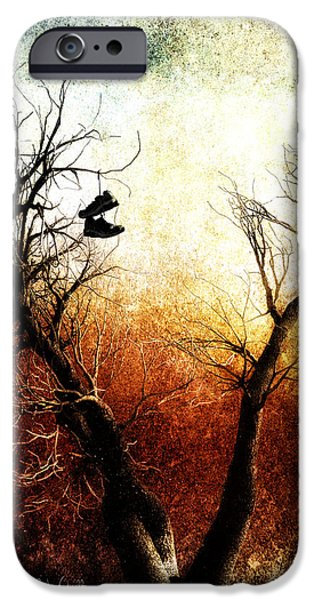 Sneakers In The Tree iPhone Case by Bob Orsillo