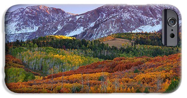 Print Photographs iPhone Cases - Sneffels Sunrise iPhone Case by Darren  White