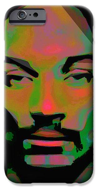 Dog Close-up Digital Art iPhone Cases - Snoop Lion iPhone Case by  Fli Art