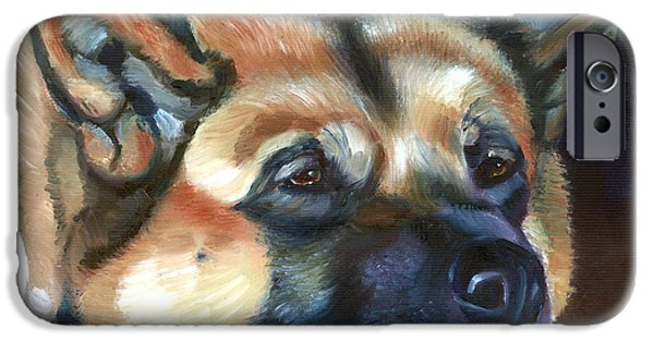 Japanese Dog iPhone Cases - Snooze iPhone Case by Lyn Cook