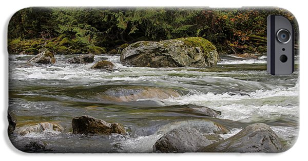 Electrical iPhone Cases - Snoqualmie rapids Washington iPhone Case by Darleen Stry