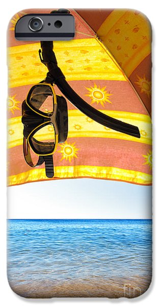 Gear iPhone Cases - Snorkeling Glasses iPhone Case by Carlos Caetano