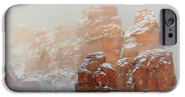 Sedona iPhone Cases - Snow 07-102 iPhone Case by Scott McAllister