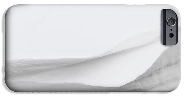 Wintertime Photographs iPhone Cases - Layers of Snow iPhone Case by Wim Lanclus
