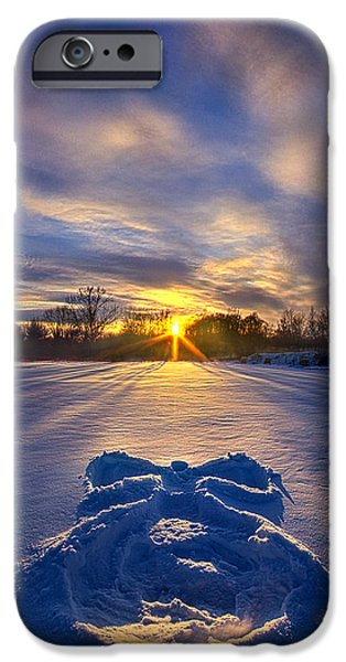 Snow iPhone Cases - Snow Angel iPhone Case by Phil Koch