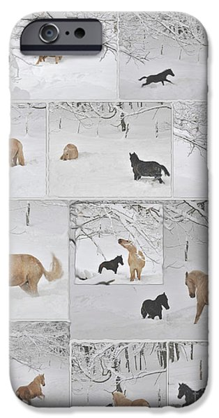 The Horse iPhone Cases - Snow Angels Paso Fino Style iPhone Case by Patricia Keller