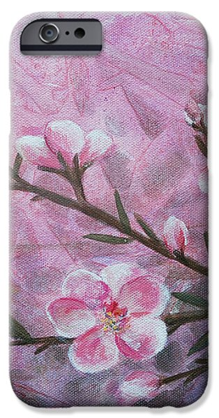 Snow Blossom iPhone Case by Arlissa Vaughn