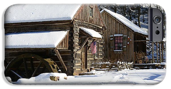 Grist Mill iPhone Cases - Snow Bound iPhone Case by Paul Ward