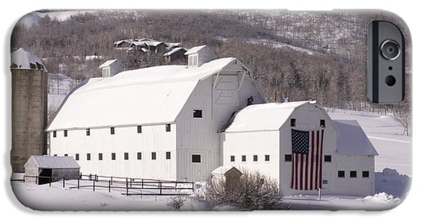 Recently Sold -  - Old Barns iPhone Cases - Snow Bound iPhone Case by Sandy Molinaro
