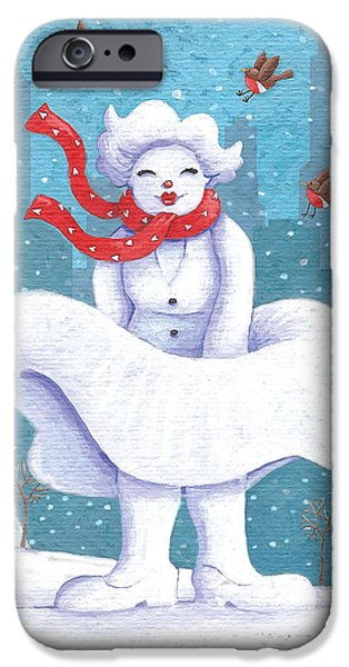 Business iPhone Cases - Snow Business Marilyn iPhone Case by Peter Adderley