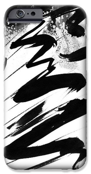 Indian Ink iPhone Cases - Snow-Clad Mountain iPhone Case by Hakon Soreide