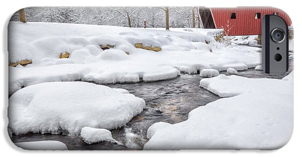 Rural Snow Scenes iPhone Cases - The Stillness of Winter iPhone Case by Bill  Wakeley