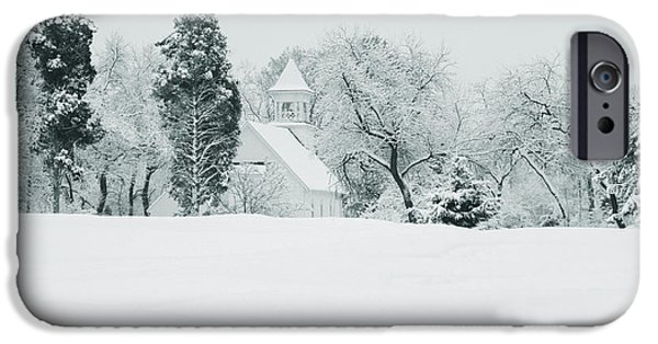 Montgomery iPhone Cases - Snow Covered Golf Course, Congressional iPhone Case by Panoramic Images
