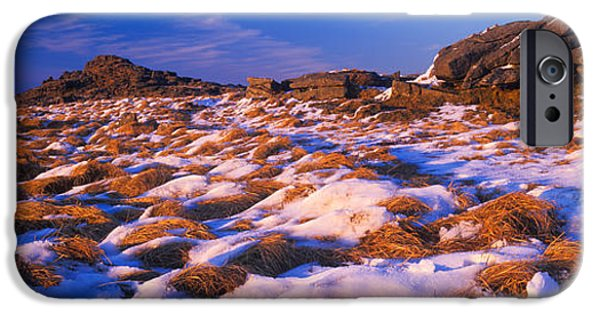 Snow Scene iPhone Cases - Snow Covered Landscape, Dartmoor iPhone Case by Panoramic Images