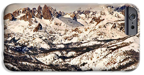 Snow Scene iPhone Cases - Snow Covered Landscape, Mammoth Lakes iPhone Case by Panoramic Images