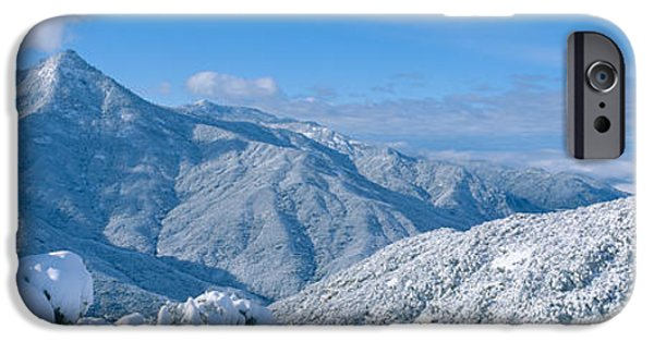 Mountain iPhone Cases - Snow-covered Mountains In Sequoia iPhone Case by Panoramic Images