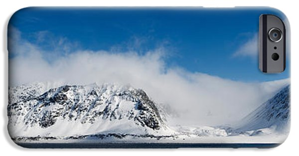 Norway iPhone Cases - Snow Covered Mountains, Magdalene iPhone Case by Panoramic Images