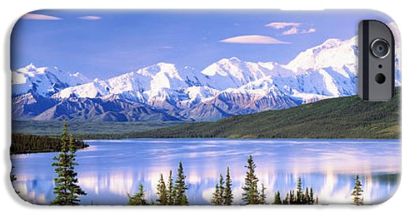 Summer iPhone Cases - Snow Covered Mountains, Mountain Range iPhone Case by Panoramic Images