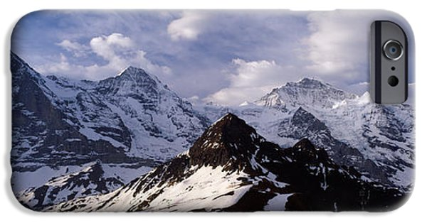 Grindelwald iPhone Cases - Snow Covered Mountains, Mt Eiger, Mt iPhone Case by Panoramic Images