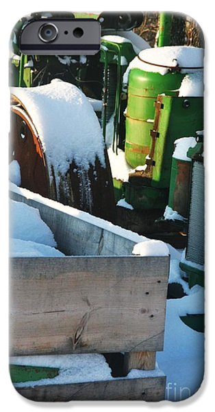 SNOW COVERED TRACTOR iPhone Case by PainterArtist FIN
