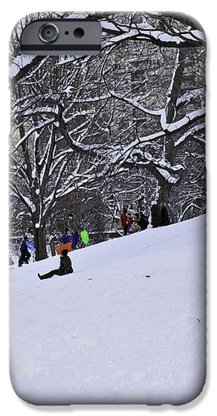 Snow Day in the Park iPhone Case by Madeline Ellis