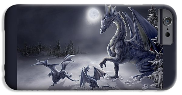 Fantasy Digital Art iPhone Cases - Snow Day iPhone Case by Rob Carlos