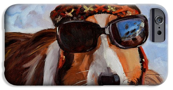 Dog In Snow iPhone Cases - Snow Dog iPhone Case by Pattie Wall