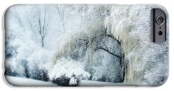 Snow Scene iPhone Cases - Snow Dream iPhone Case by Julie Palencia