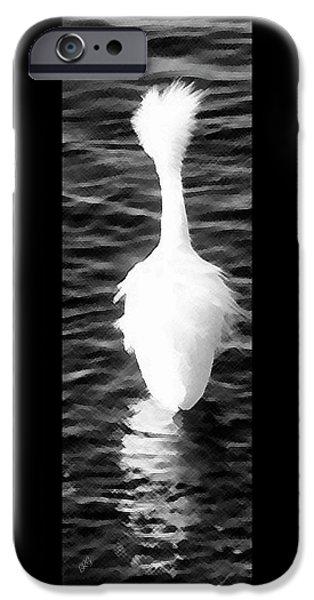 Snowy Night iPhone Cases - Snowy Egret - The Wonder iPhone Case by Ben and Raisa Gertsberg