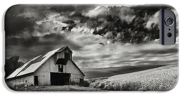 Contour Farming iPhone Cases - a used Barn iPhone Case by Latah Trail Foundation