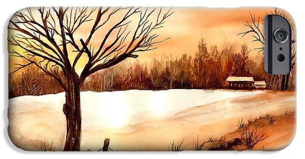 Winter iPhone Cases - Snow Glow iPhone Case by Neela Pushparaj