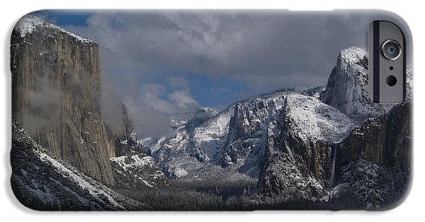 Storm iPhone Cases - Snow Kissed Valley iPhone Case by Bill Gallagher