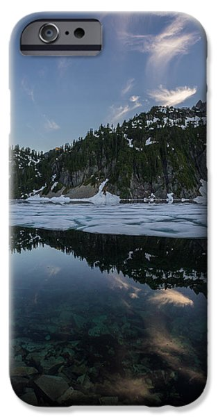 Snow iPhone Cases - Snow Lake Cloud Whisps iPhone Case by Mike Reid