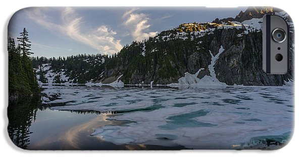 Snow iPhone Cases - Snow Lake Last Ice iPhone Case by Mike Reid