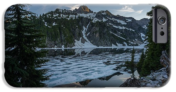 Snow iPhone Cases - Snow Lake Serenity iPhone Case by Mike Reid