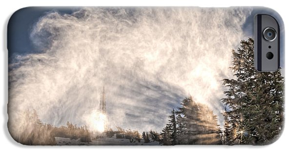 Snowy Day iPhone Cases - Snow Flume iPhone Case by Maria Coulson
